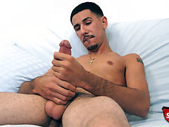 Hung straight boy jerks off on camera for the first time.