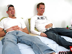 Two hot straight boys have anal sex for the first time for cash